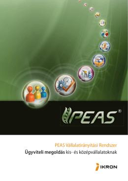 PEAS Vállalatirányítási Rendszer Ügyviteli megoldás kis