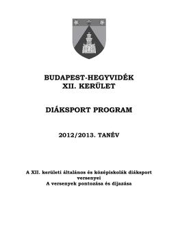 Diáksport program 2012_13 - Hegyvidéki Szabadidő Központ