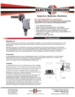 EZ-100 Rögzítőbilincs szerelvény Termékismertető