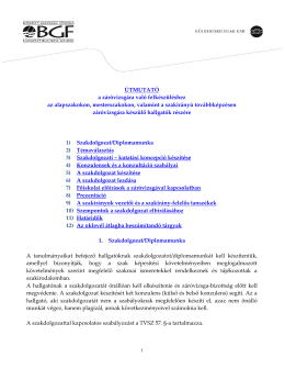 BGF KKFK - Dr. Eszes István