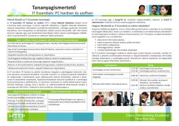 Részletes IT Essebtials tájékoztató (9. osztályosoknak)