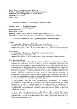 1 Babeş–Bolyai Tudományegyetem Kolozsvár Politika