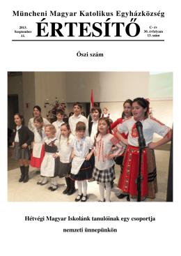 2013 ősz - Magyar Katolikus Misszió München