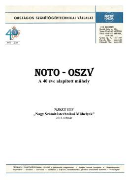 NOTO - OSZV