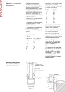 Általános javaslatok a szereléshez (PDF, 135 Kbyte)