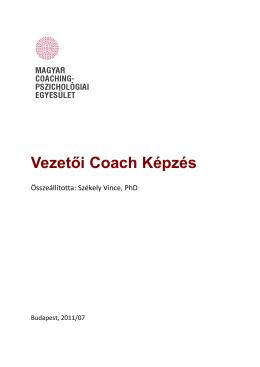 A képzés leírása letölthető itt. - Magyar Coaching Pszichológiai