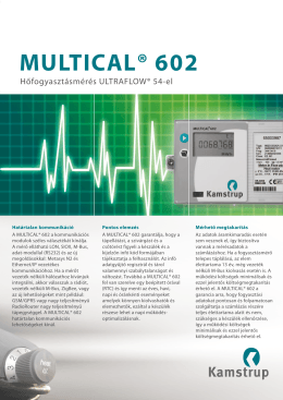 MULTICAL® 602 - Comptech Kft.