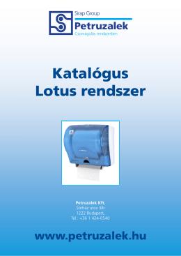 Katalógus Lotus rendszer