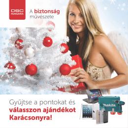 Gyűjtse a pontokat és válasszon ajándékot Karácsonyra!