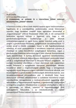 Összefoglalók - University of Szeged