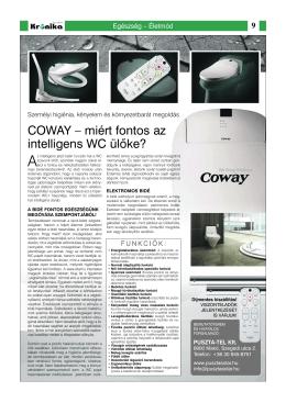 COWAY – miért fontos az intelligens WC ülőke?