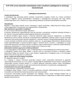survey statisztika - Eötvös Loránd Tudományegyetem