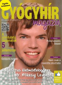 2014. augusztus - Gyógyhír Magazin