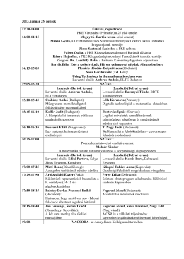 A konferencia végleges programja