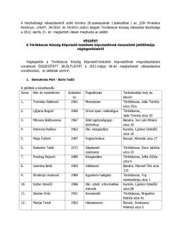 A helyhatósági választásokról szóló törvény 26.szakaszának 1