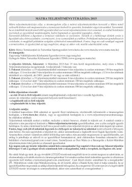 Túrák 2015 PDF - Mátra teljesítménytúrázója