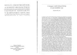 A magyar-török kétnyelvűség és ami körülötte van