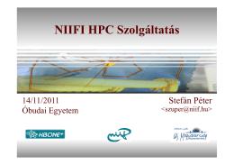 NIIFI HPC Szolgáltatás