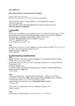 Illyés Mária - Szépművészeti Múzeum