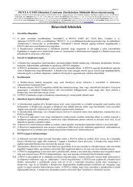 részvétel feltételeit - Penta Unió Oktatási Centrum