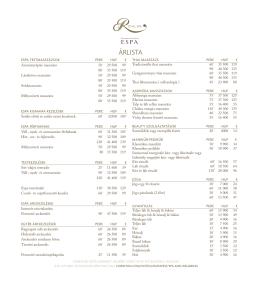 ÁRLISTA - Corinthia Hotels