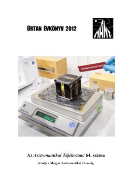 ŰRTAN Évkönyv 2012 - Magyar Asztronautikai Társaság