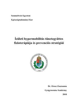 Ízületi hypermobilitás tünetegyüttes fizioterápiája és prevenciós