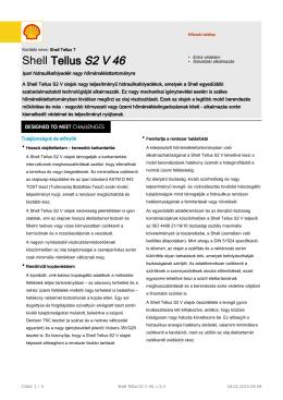 Page 1 Műszaki adatlap Korábbi neve: Shell Tellus T Shell Tellus