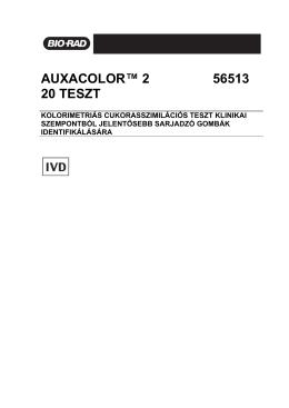 AUXACOLOR™ 2 56513 20 TESZT - Bio-Rad