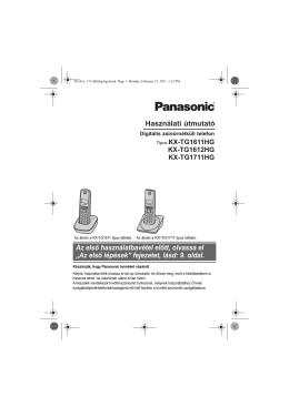 Panasonic KX-TG1611-1711HG használati utasítás (magyar)