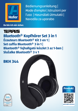 Bluetooth® Kopfhörer Set 3 in 1 BKH 344