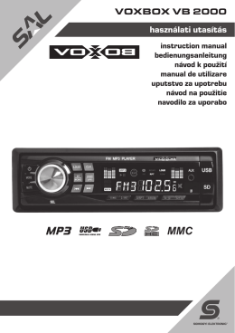CDA-105Ri - Somogyi Elektronic