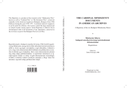 the cardinal mindszenty documents in american