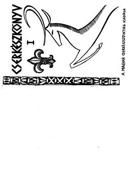Fiú Cserkészkönyv I kötet