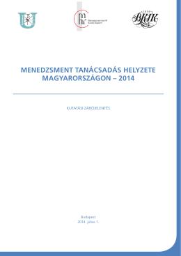 menedzsment tanácsadás helyzete magyarországon – 2014