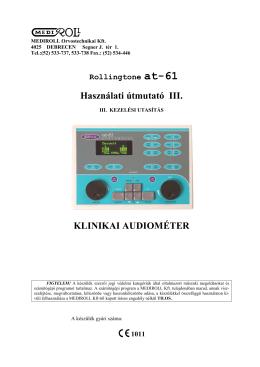 at-61 Használati Útmutató III - MEDIROLL Orvostechnikai Kft.