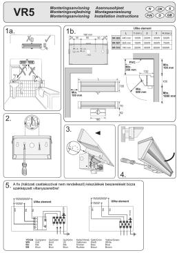 ADAX VR5 Infra fűtőtest szerelési útmutató