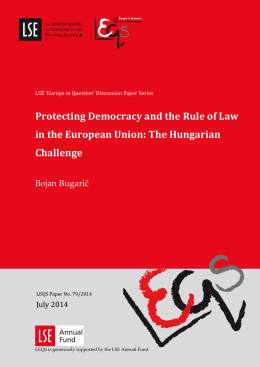 Protecting Democracy and the Rule of Law in the European Union