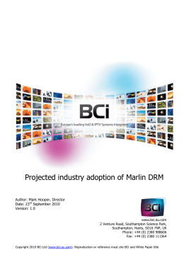 Marlin DRM White Paper - BCi