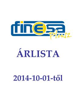 2014-10-01-től - Finesa Plusz KFT.