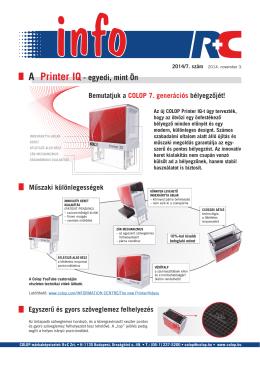 A Printer IQ