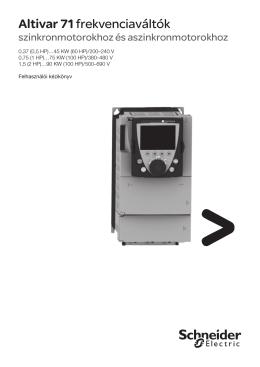 Altivar 71 - ATV71 kezelői kézikönyv (0,37