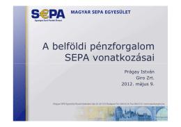 A belföldi pénzforgalom SEPA vonatkozásai
