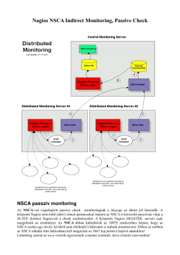 Nagios NSCA Passive Check Indirect Monitoring HUN - M