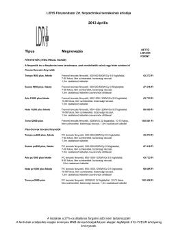2003-04-01 lisys-hang árlista