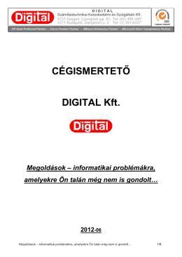 CÉGISMERTETŐ DIGITAL Kft.