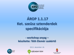 ÁROP 1.1.17. workshop2
