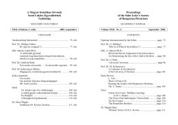 XXII. évfolyam, 3. szám - Magyar Katolikus Orvosok Szent Lukács