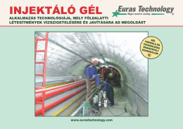 INJEKTÁLÓ GÉL - Euras Technology Gel