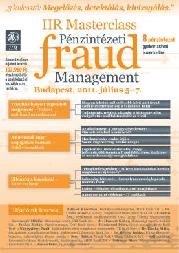 Masterclass Pénzintézeti Fraud Management